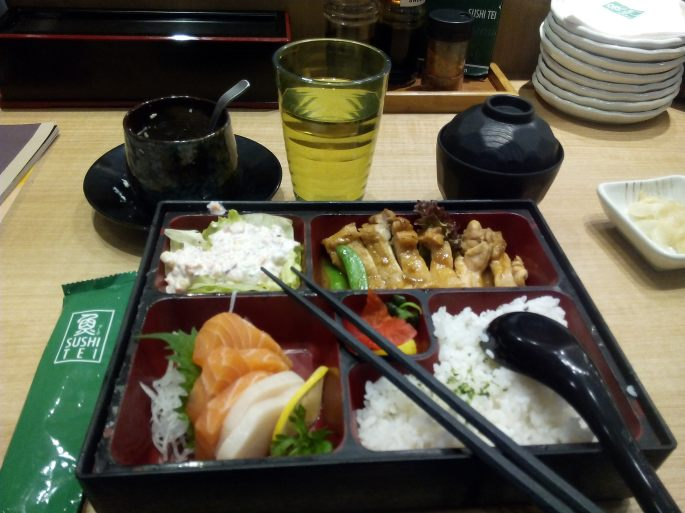 Lunch at Sushi Tei Restaurant. NU Mall, KL Sentral