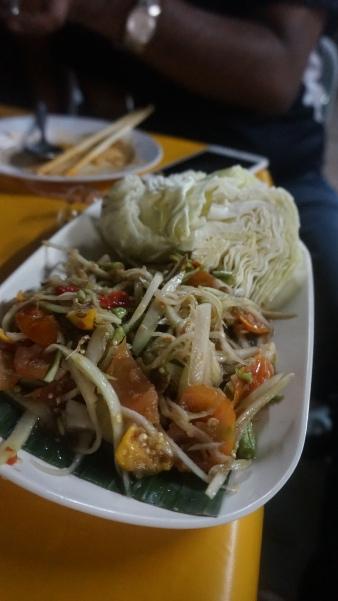 Papaya Salad, vegan diet!
